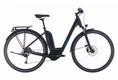 Bicicletta ibrida Cube Touring Hybrid One 500 Easy Entry Shimano 9v Black / Blue 2020