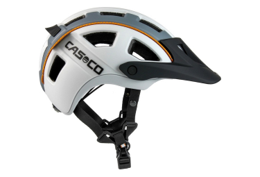 Casco MTBE 2 Helmet White Grey Orange Matt