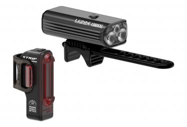 Lezyne Macro Drive 1300XXL / Strip Pro Pair Lights Black