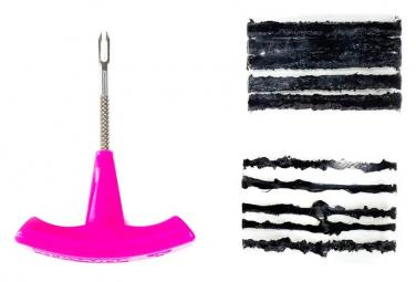 Kit de Mèches de Réparation Tubeless Muc-Off Puncture Plug Outil + 10 Mèches