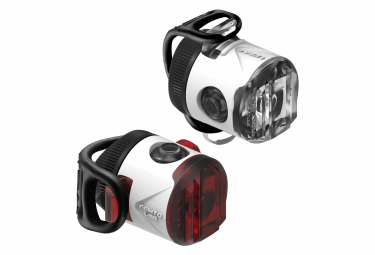 PAIRE USB FEMTO LEZYNE NEW LED Blanc