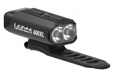 Lezyne New LED Micro Drive 600XL Front Light Black
