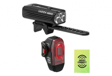 LEZYNE LED SUPER DRIVE XXL AVT + KTV PRO SMART ARR 20-Black/Hi Gloss