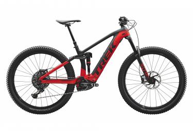 Trek 2020 Rail 9.8 29 '' Mountain bike elettrico a sospensione completa Sram GX Eagle Matte Trek Black / Gloss Viper Red