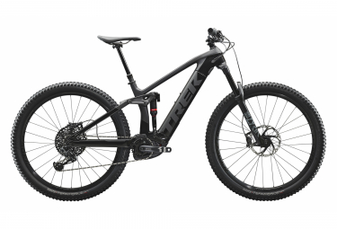 Trek 2020 Rail 9.8 29 '' Mountain bike elettrico a sospensione completa Sram GX Eagle Matte Raw Carbon / Gloss Trek Black
