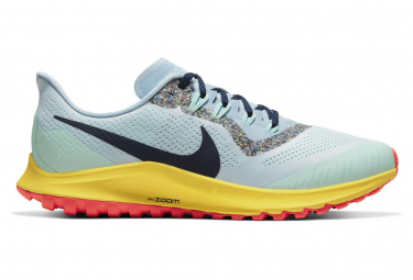 Nike Air Zoom Pegasus 36 Trail Blue Green Yellow Men
