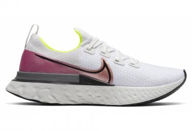 Zapatillas Nike React Infinity Run Flyknit para Hombre Blanco / Rosa