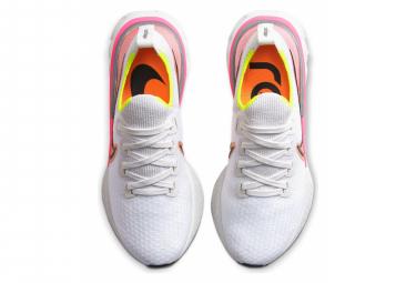 Nike React Infinity Run Flyknit Bianco Rosa Giallo Donne