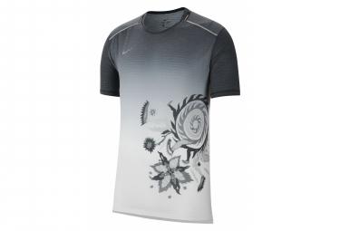 Short Sleeves Jersey Nike Rise 365 Black White Men