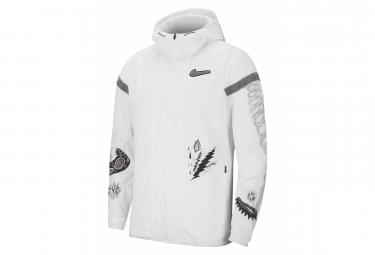 Veste coupe-vent Nike Windrunner Wild Run Blanc Noir Homme