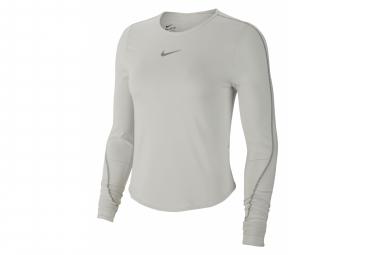Long Sleeves Jersey Nike Dri-Fit White Grey Women