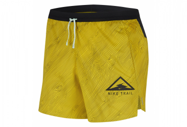 Short Nike Dri-Fit Flex Stride Trail 13cm Jaune Noir Homme