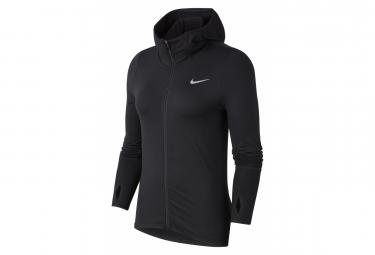 Haut à capuche Nike Element Noir Femme
