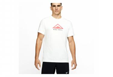 T-Shirt a manica corta Nike Dri-Fit Trail Bianco Rosa Uomo