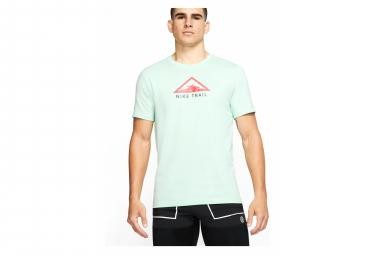Nike Dri-Fit Trail Short Sleeve T-Shirt Green Pink Mens