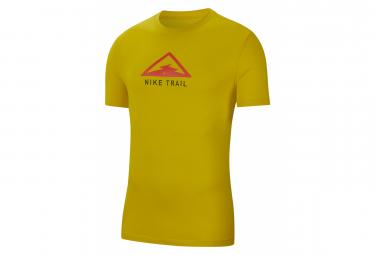 Short Sleeves T-Shirt Nike Dri-Fit Trail Yellow Pink Men
