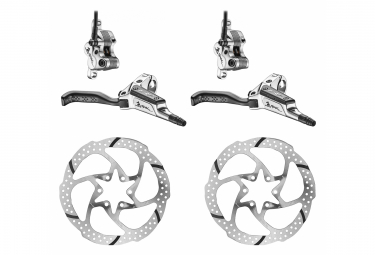 TRP Pair of Brakes G-SPEC DH-LH Hydraulic 4-piston Front Brake 16mm Silver with TRP Rotor 29 Disc 6 Bolt