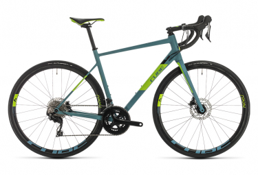 Cube Attain SL High Road Bike Shimano 105 11s Blue / Green 2020