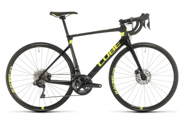 Cube Agree C:62 SL High Road Bike Shimano Ultegra Di2 11s Black / Yellow 2020