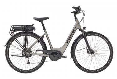 Bicicleta Ciudad Mujer Trek Verve+ 2 Lowstep 300wh Gris / Noir