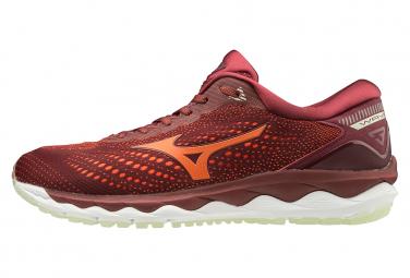 Zapatillas Mizuno Wave Sky 3 para Hombre Rojo / Naranja