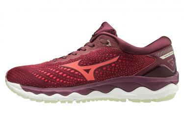Zapatillas Mizuno Wave Sky 3 para Mujer Rojo