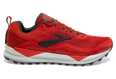Brooks Cascadia 14 Red Gris Men