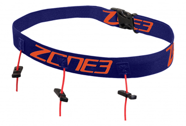 Ceinture de course avec stockage gels energétiques Zone3 BLACK/RED/WHITE OS