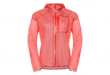 Women's Odlo Zeroweight Dual Dry Waterproof Coral Waterproof Jacket