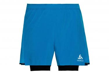 ODLO Zeroweight Ceramicool Pro Shorts 2-en-1 Azul Negro