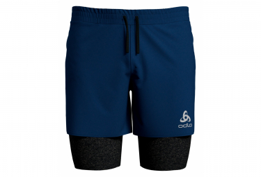 ODLO Millennium Linencool Pro Shorts 2-en-1 Azul Negro