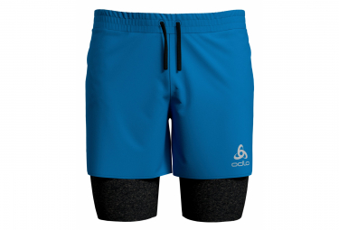ODLO Millennium Linencool Pro 2-en-1 Corto Azul Negro