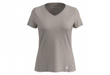 Lou Linencool Odlo Short Sleeve Jersey Gray Women