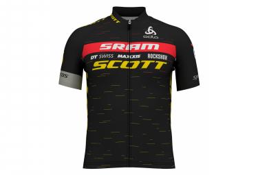 Jersey de manga corta ODLO Zip Scott Sram Racing 2020 Hombres