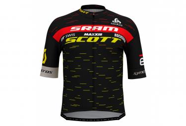 Jersey de manga corta con cremallera Scott Sram Racing 2020 Pro Odlo para hombre