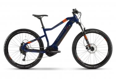 VTT Électrique Semi-Rigide Haibike SDuro HardSeven 1.5 Shimano Altus 9V 400 Wh 27.5'' Plus Bleu Orange 2020
