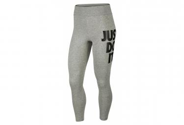 Collant Long Femme Nike Sportswear Leg-A-See Jdi Gris Heather Noir