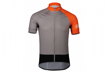 Poc Essential Road Kurzarmtrikot Granite Grey / Zink Orange