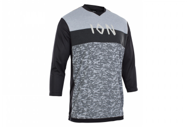 Maillot Mangas 3 4 Ion Scrub Amp Root Gris   Negro Xl