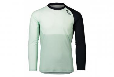 Poc MTB Pure Long Sleeve Jersey Apophyllite Green / Navy Black