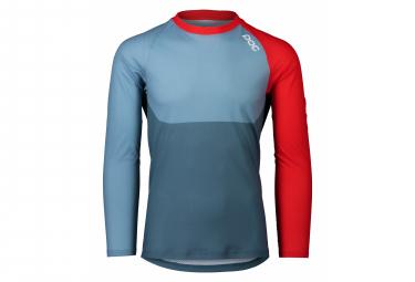 Maglia Poc MTB Pure manica lunga blu calcite / rosso prismano