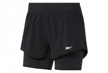 Reebok Shorts 2 En 1 Run Epic Black Mujer Xs