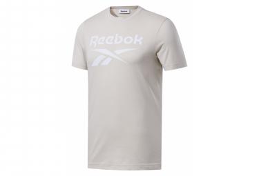 Reebok Short Sleeve Jersey Reebok Logo Beige Men S