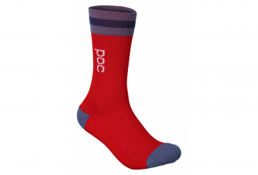 Poc Essential Mid Length Socken Calcite Blue / Prismane Red