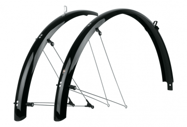 SKS Bluemels Shiny 28'' 53 Pair of Fenders Black
