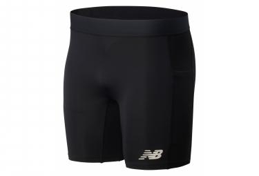 New Balance Velocity 8in Bib Shorts Black Mens