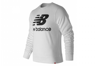 Sweat New Balance Essentials Logo Blanc Homme