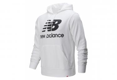 New Balance Essentials Logo Hoodie White Mens