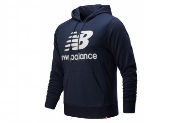 New Balance Men  39 S Essentials Logo Sudadera Con Capucha Azul S