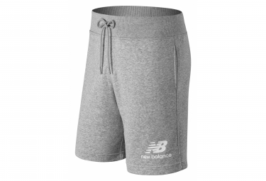 New Balance Essentials Logo Shorts Gray Mens
